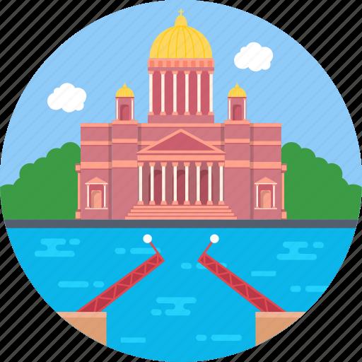 monument to nicholas i, russia, saint isaac's square, saint petersburg, world famous building icon