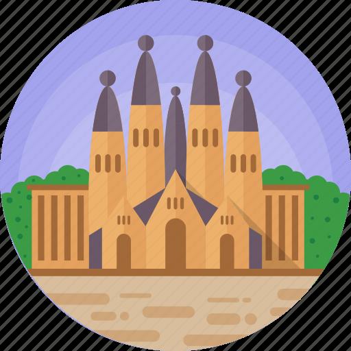 barcelona, barcelona historic building, sagrada famila church, sagrada família, spain icon