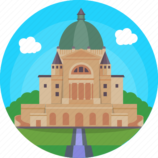Canada, montreal, oratory the largest church, saint joseph's oratory, the city of a hundred bell towers icon - Download on Iconfinder