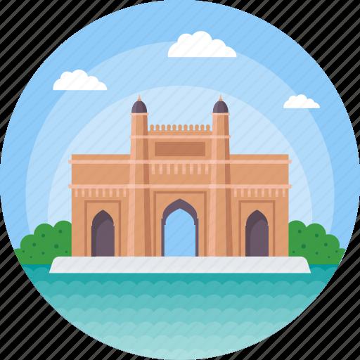 bombay, gateway of india, india, maharashtra, mumbai triumphal arch icon