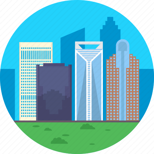 charlotte usa, largest city in usa, north carolina, skyline of charlotte, tallest buildings in charlotte icon