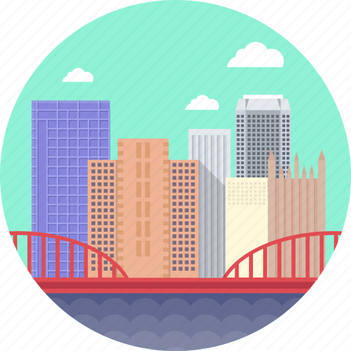 Pittsburgh, second-largest city in the us state pennsylvania, tallest building in pennsylvania, tallest buildings in pittsburgh, united states icon - Download on Iconfinder