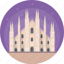 italy, largest church in italy, milan cathedral, milano, milano famous building icon