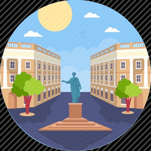 odessa, odessa landmark, odessa monument, statue of the duke, ukraine icon