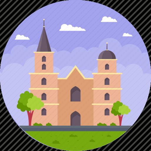 brick gothic church, krakow, poland, st. mary's basilica krakow, st. mary's church icon
