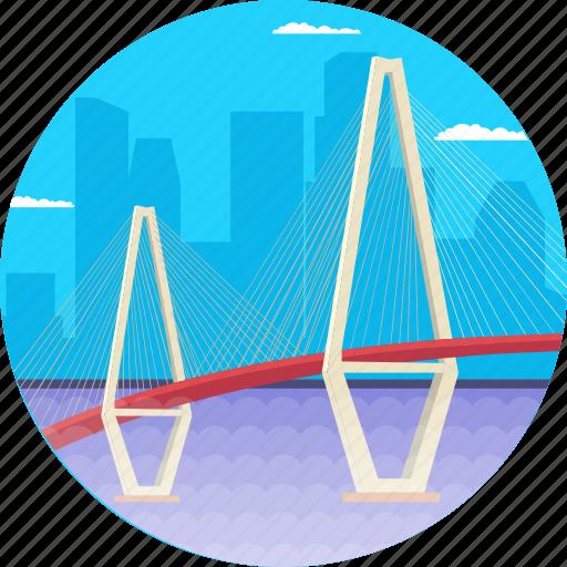 arthur ravenel jr. bridge, cable-stayed bridge, charleston south carolina, cooper river, usa icon