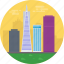 california, san francisco, san francisco city skyline, tallest buildings in san francisco, united states icon