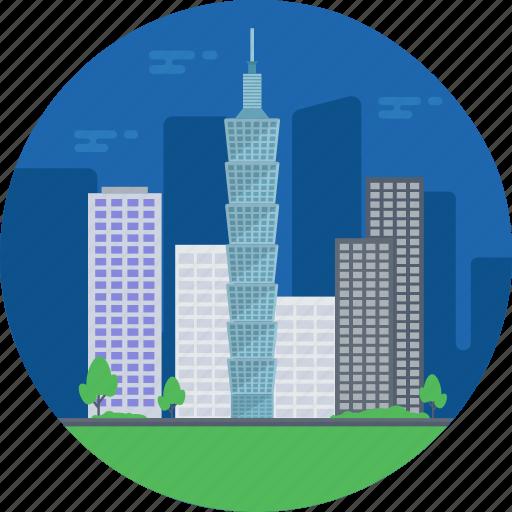 taipei city, taipei city skyline, taipei landmark, taipei skyscraper, taiwan icon