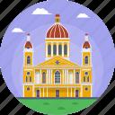capital of the granada department, granada nicaragua, la catédral de granada, nicaragua, nicaragua historic building icon