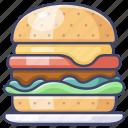 burger, fastfood, hamburger icon