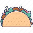 taco, tacos, mexican, food icon