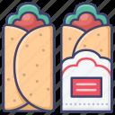 breakfast, burrito, fastfood, food