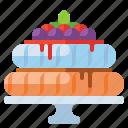 pavlova, cake, food