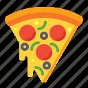 pizza, food, slice