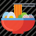 ramen, noodles, food, bowl
