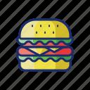 burger, cheeseburger, hamburger, food