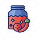 chutney, food, jam icon