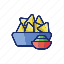 nachos, food, chips