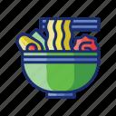 ramen, noodles, food