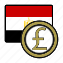 africa, currency, egypt, exchange, money, pound, world icon