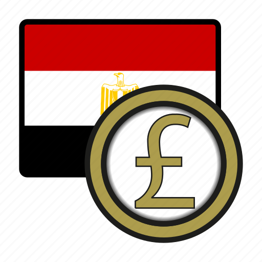 Africa Currency Egypt Exchange Money Pound World Icon
