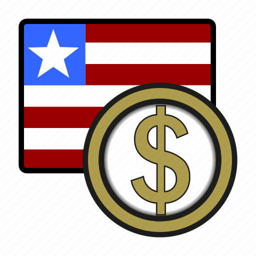 africa, currency, dollar, exchange, liberia, money, world icon