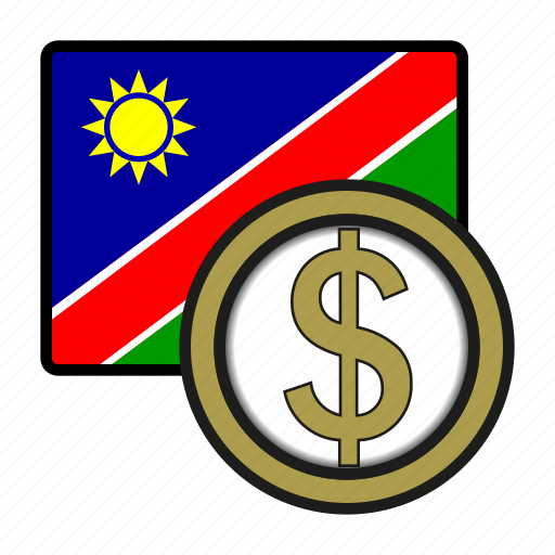 Africa Currency Dollar Exchange Money Namibia World Icon
