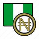 exchange, naira, nigeria, money, payment, coin icon