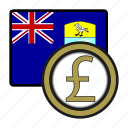 pound, exchange, money, payment, saint helena, coin icon