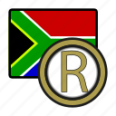 rand, exchange, southafrica, money, payment, coin icon