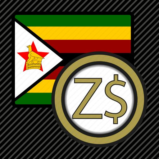 africa, currency, dollar, exchange, money, world, zimbabwe icon