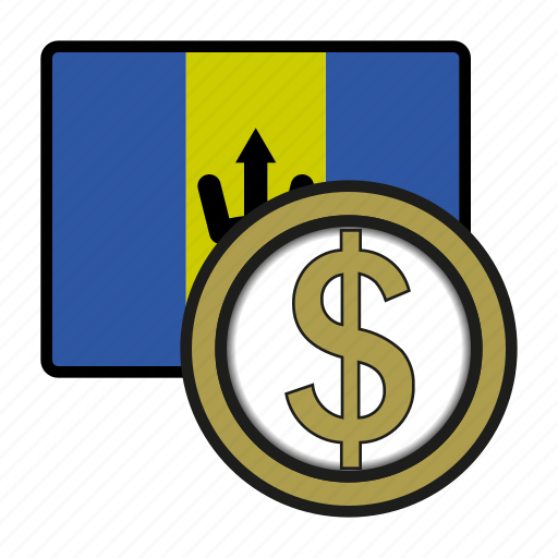 america, barbados, coin, currency, dollar, exchange, world icon