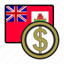 america, bermuda, coin, currency, dollar, exchange, world icon