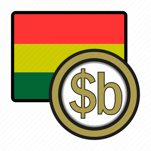 america, bolivia, boliviano, coin, currency, exchange, world icon