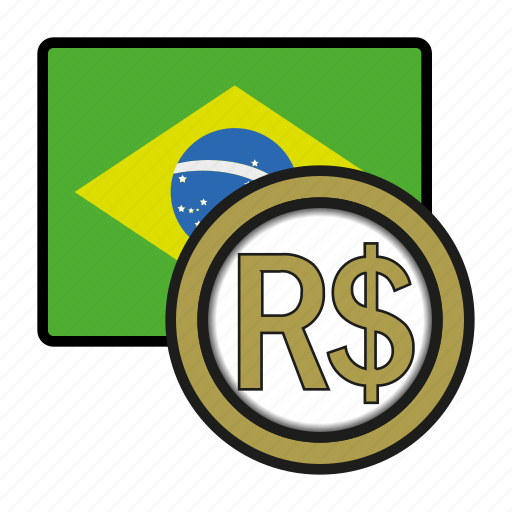 america, brazil, coin, currency, exchange, real, world icon
