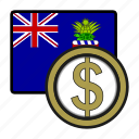 america, cayman, coin, currency, dollar, exchange, world icon