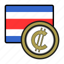 america, coin, colon, costarica, currency, exchange, world icon