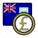 coin, currency, exchange, falkland, malvinas, pound, world icon