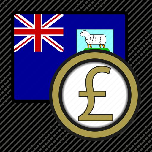 coin, currency, exchange, falkland, malvinas, pound, world icon