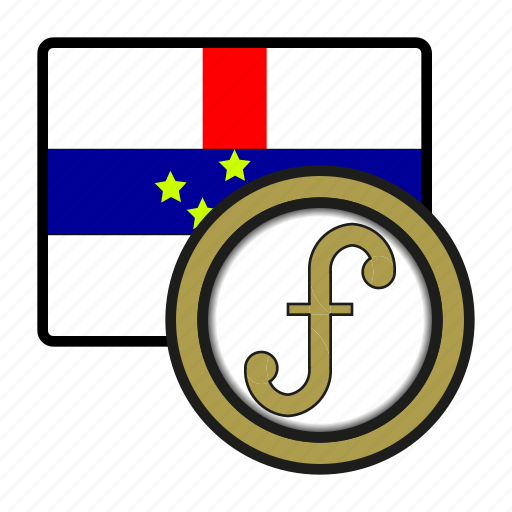 antilles, coin, currency, exchange, guilder, netherlands, world icon