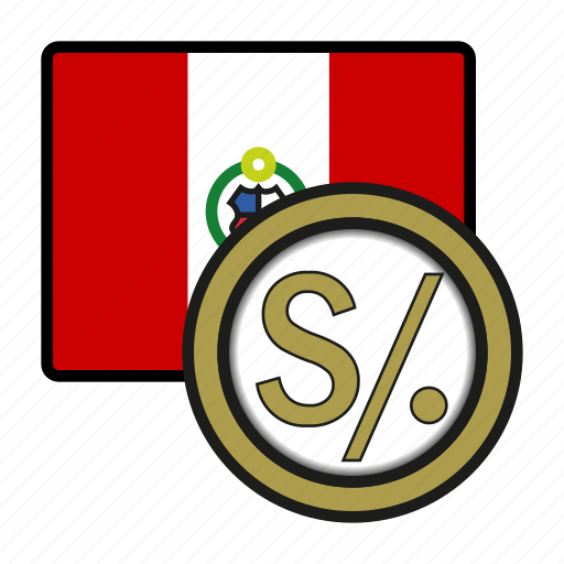 america, coin, currency, exchange, peru, sol, world icon
