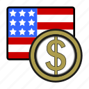 coin, currency, dollar, exchange, united, usa, world icon