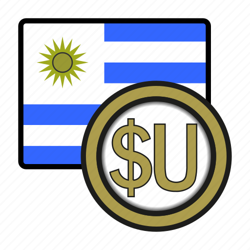 america, coin, currency, exchange, peso, uruguay, world icon
