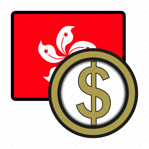 asia, coin, currency, dollar, exchange, hongkong, world icon