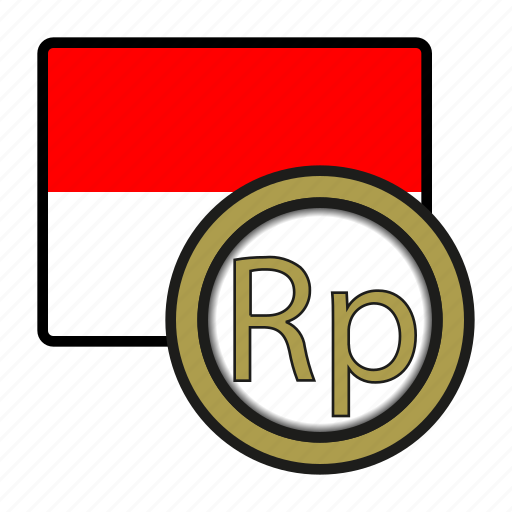 asia, coin, currency, exchange, indonesia, rupiah, world icon