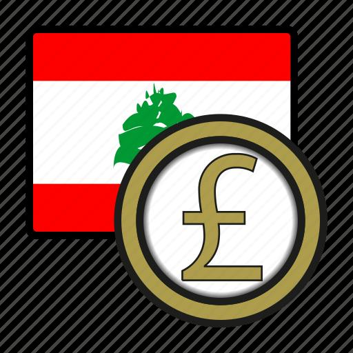 asia, coin, currency, exchange, lebanon, pound, world icon