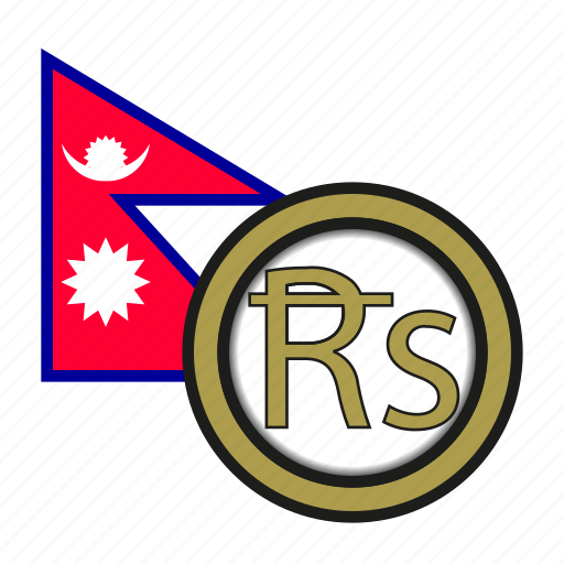 asia, coin, currency, exchange, nepal, rupee, world icon