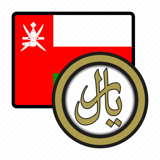 asia, coin, currency, exchange, oman, rial, world icon