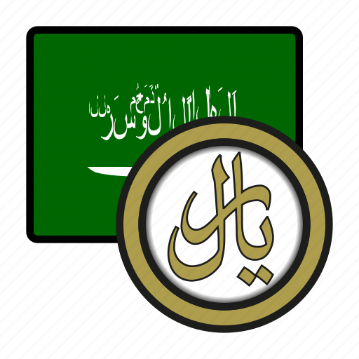 arabia, coin, currency, exchange, riyal, saudi, world icon