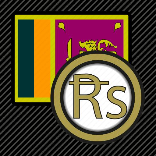coin, currency, exchange, lanka, rupee, sri, world icon